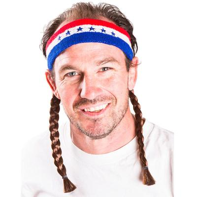 Click to get Instant Mullet w Headband Willie