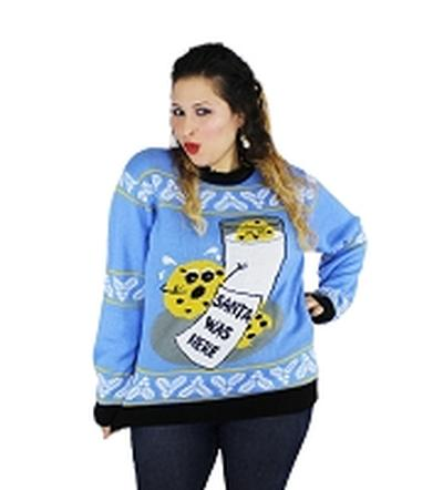 Click to get Ugly Christmas Sweater Cookie Hungry Santa Small