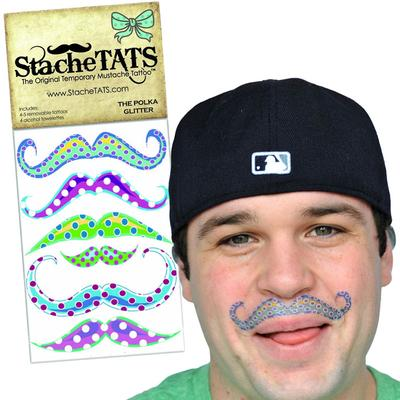 Click to get Stache Tats Polka Dot Glitter Temporary Tattoos