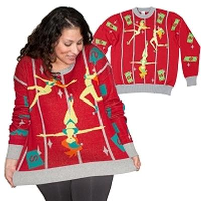 Click to get Ugly Christmas Sweater Pole Dancing Elves