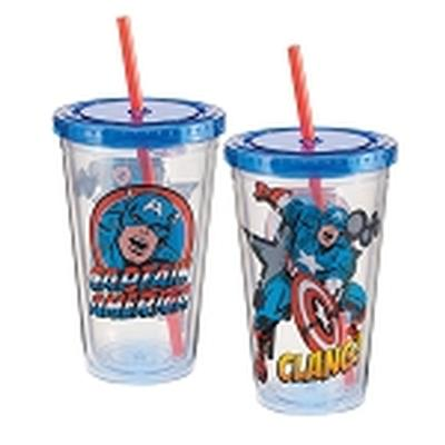 Click to get Marvel Captain America 18 oz Acrylic Travel Cup