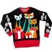 Knit Ugly Holiday Sweater: Laser Cat-Zillas